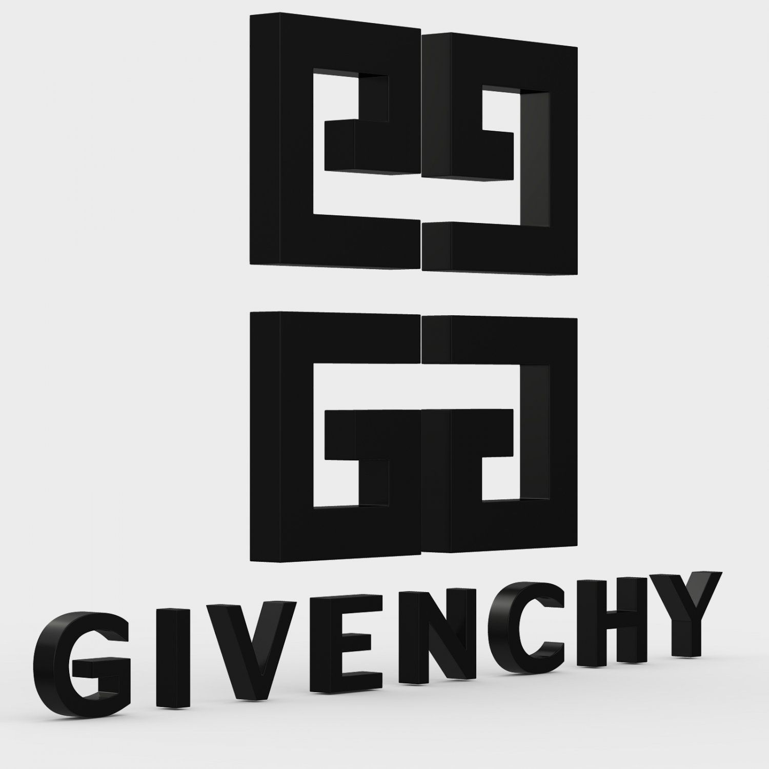 Givenchy Logo - Givenchy logo 3D Model in Other 3DExport