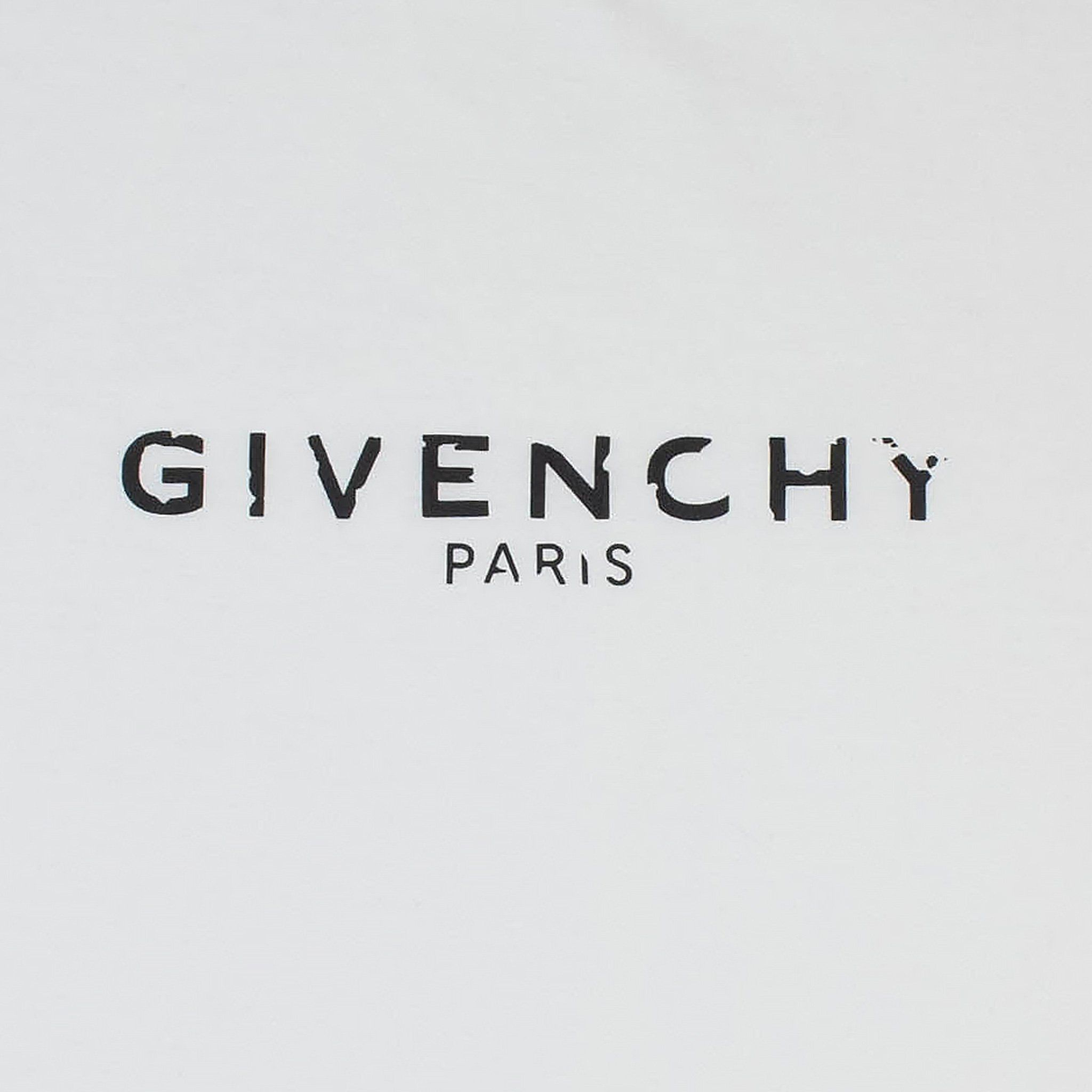 Givenchy Logo - Givenchy Paris Broken Logo Slim Fit White T Shirt – Crepslocker