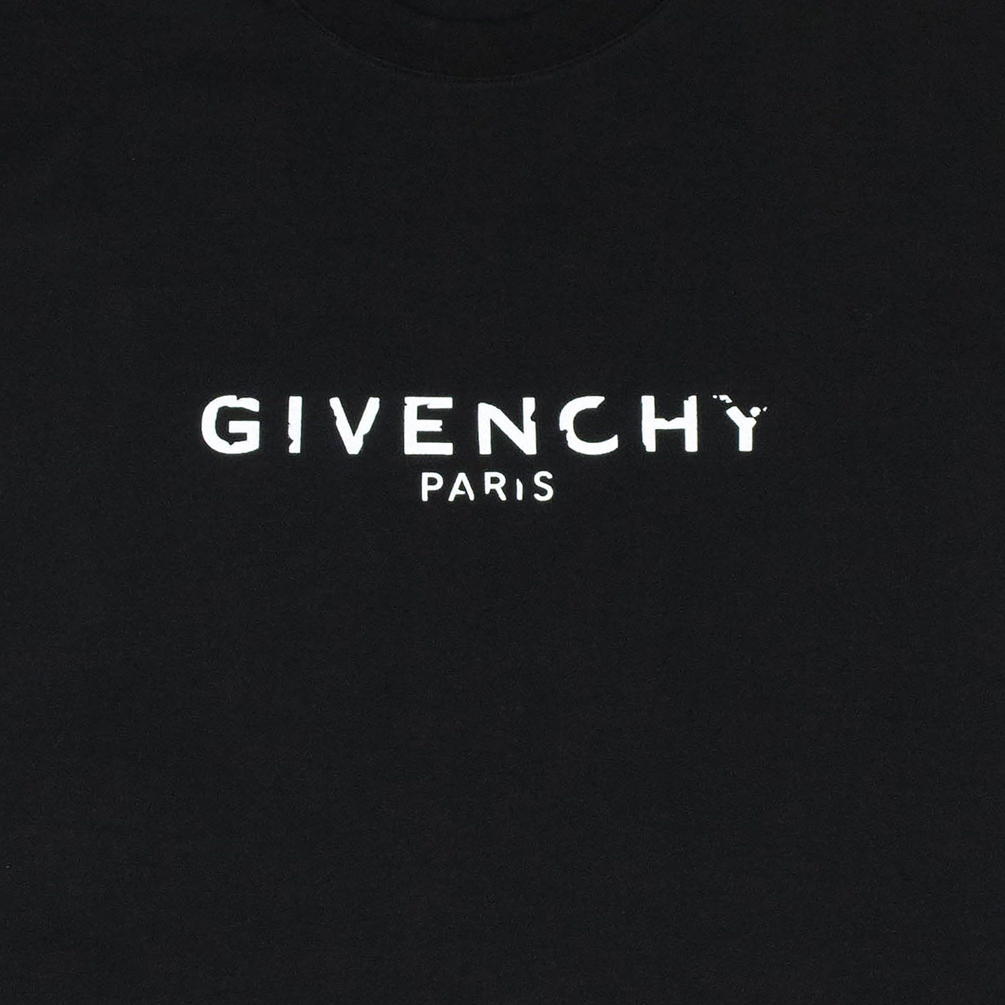 Givenchy Logo - Givenchy Paris Slim Fit Broken Logo T Shirt Black – Crepslocker