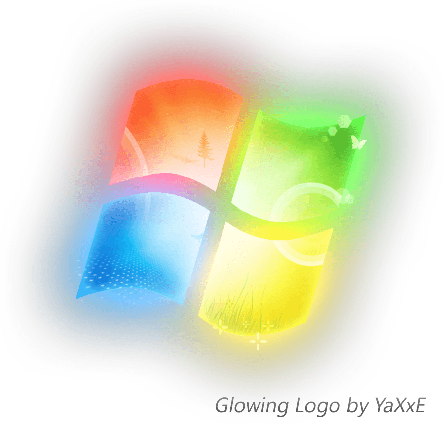 Windows 7 Logo - Windows 7 Glowing Logo by yaxxe on DeviantArt