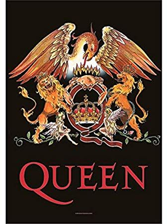 Queen Logo - Amazon.com : Queen Crest large fabric poster / flag 1100mm x 750mm ...