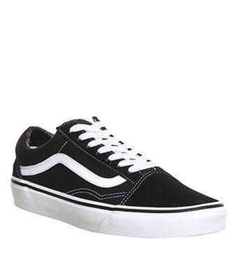 Black And White Vans Shoes Logo Loix