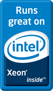 Xeon Logo - Runs great on Intel Xeon inside Logo Vector (.AI) Free Download