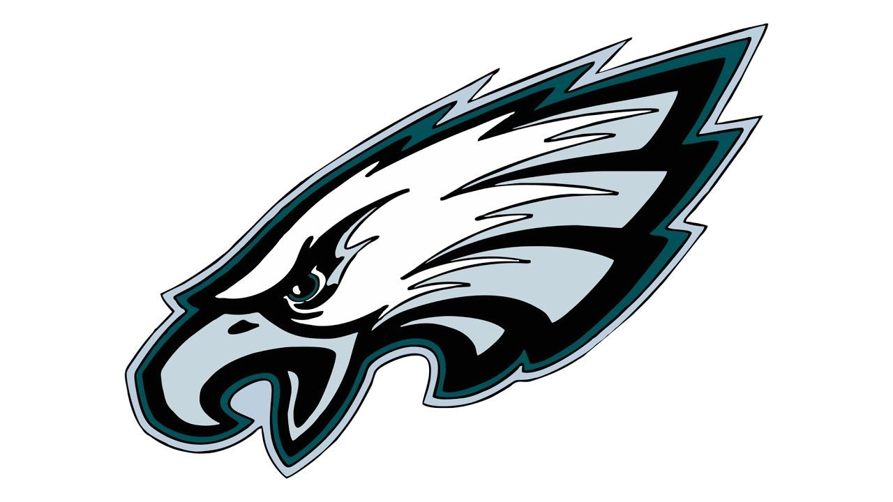 Eagles Logo - How to Draw the Philadelphia Eagles Logo (NFL) - YouTube
