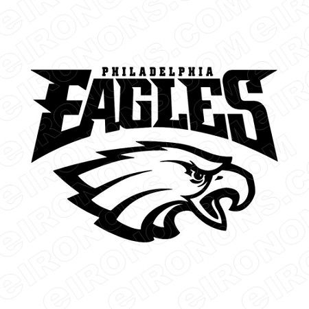 Eagles Logo - PHILADELPHIA EAGLES LOGO SPORTS NFL FOOTBALL T-SHIRT IRON-ON ...