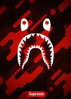 Bape Supreme Red Logo Logodix