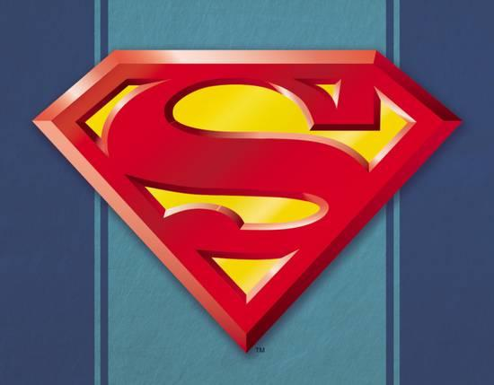 Superman Logo - Superman Logo Tin Sign at AllPosters.com
