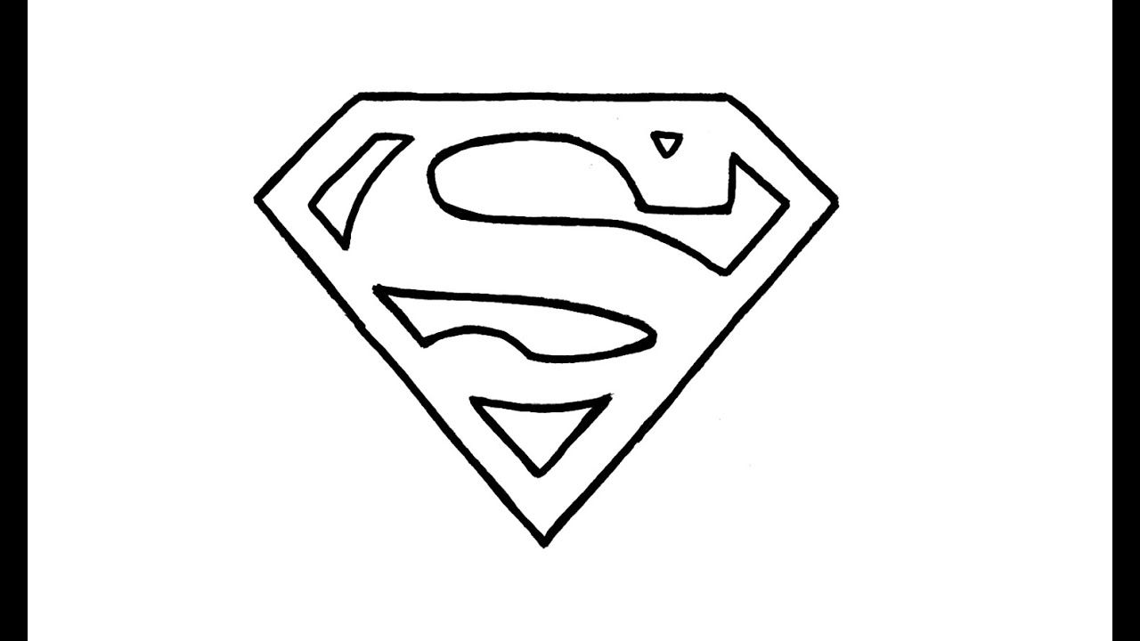 Superman Logo - How to Draw the Superman Logo (symbol) - YouTube