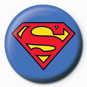 Superman Logo - SUPERMAN - logo Badge | Button | Sold at Abposters.com