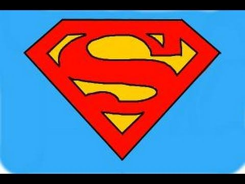 Superman Logo - How to draw Superman Logo - YouTube