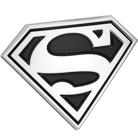 Superman Logo - Amazon.com: Fan Emblems Superman Logo 3D Car Emblem Black/Chrome, DC ...