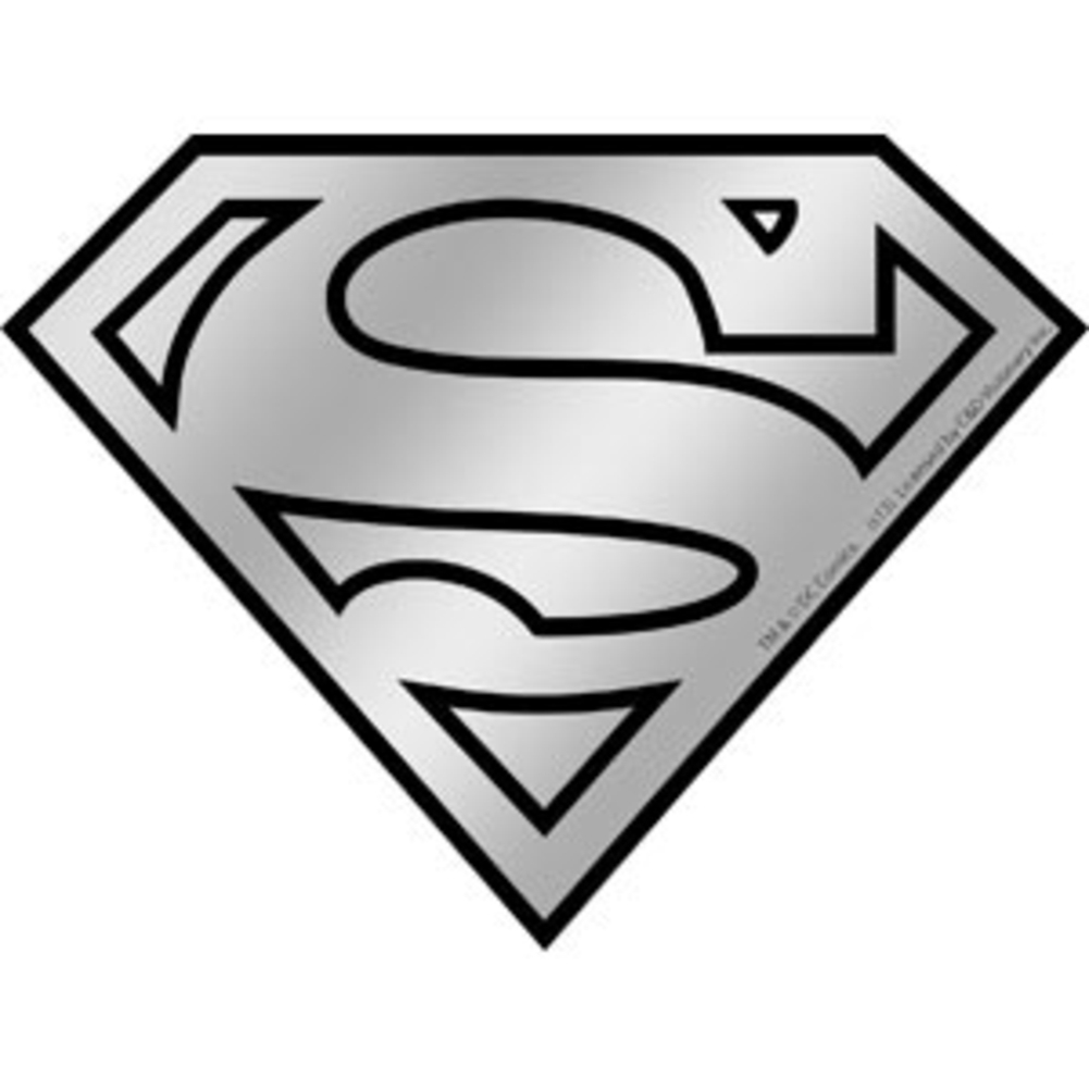 Superman Logo - Superman Logo Chrome Sticker