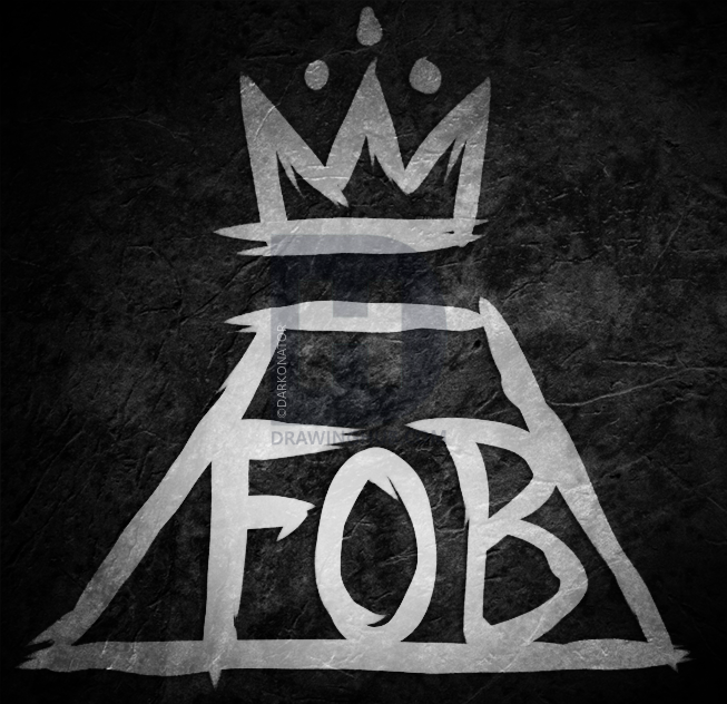 FOB Fall Out Boy Logo - How To Draw Fall Out Boy Logo, Step by Step, Drawing Guide, by ...