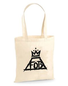 FOB Fall Out Boy Logo - Womens Ladies FOB Fall Out Boy Logo Indie Rock Band Handbag Tote ...