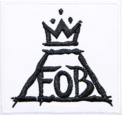 FOB Fall Out Boy Logo - FOB FALL OUT BOY Heavy Metal Rock n Roll Punk Band Logo Music Patch ...