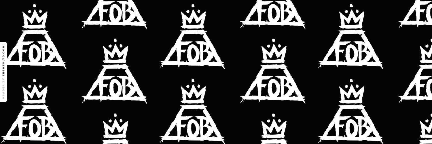 FOB Fall Out Boy Logo - Fall Out Boy Logo Wallpaper - WallpaperSafari