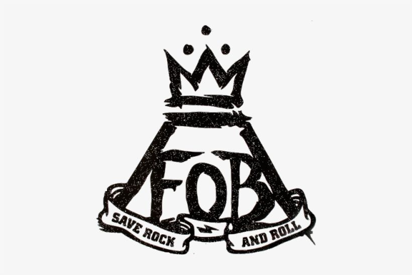 FOB Fall Out Boy Logo - Mine Fob Fall Out Boy Transparent Save Rock And Roll - Fall Out Boy ...