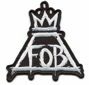 FOB Fall Out Boy Logo - FALL OUT BOY fob crown logo IRON-ON PATCH *Free Shipping* folie a ...