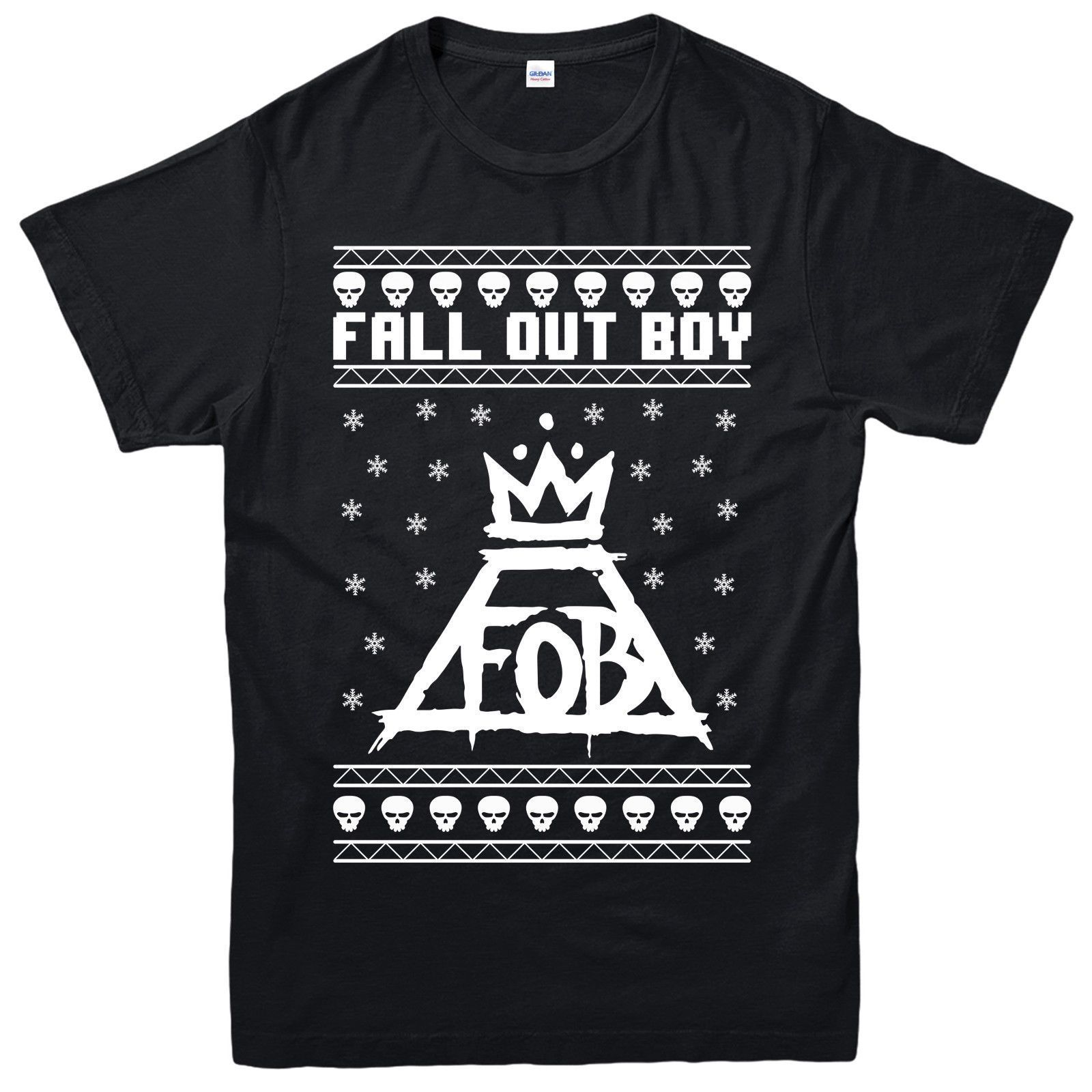 FOB Fall Out Boy Logo - Fall Out Boy Christmas T-Shirt FOB Logo Festive Xmas Gift Adult Kids ...