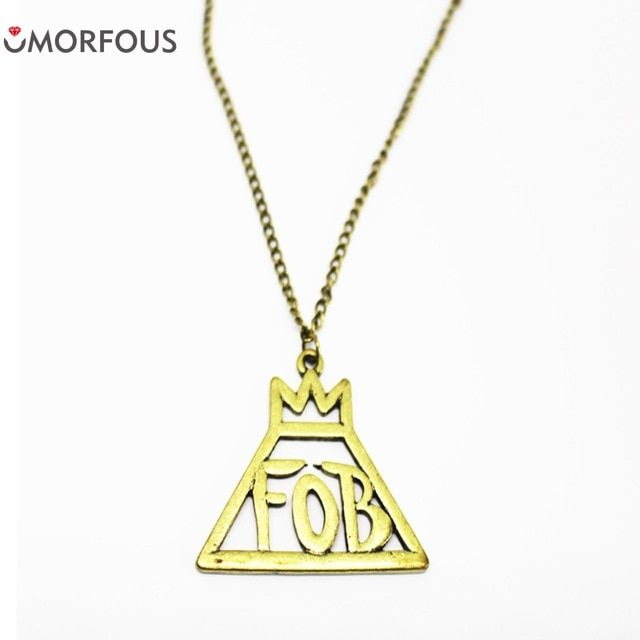 FOB Fall Out Boy Logo - Fashion Letter FOB Jewelry Rock Band Fall Out Boy Rock Music Logo ...