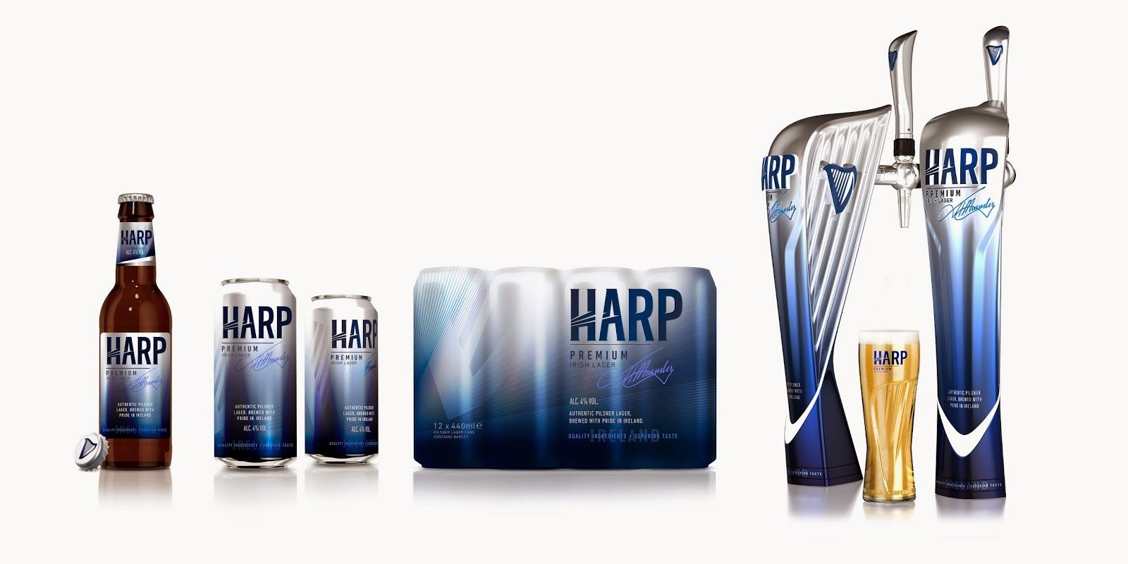 Harp Beer Logo - Harp Lager on Packaging of the World - Creative Package Design Gallery