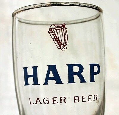 Harp Beer Logo - VINTAGE HARP LAGER Advertising Beer Logo Bar Glass - $7.49 | PicClick