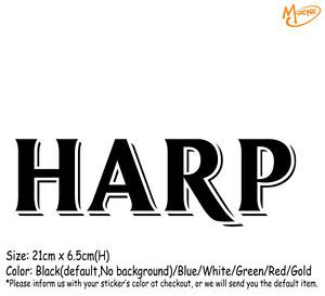 Harp Beer Logo - HARP BEER LOGO Wall Stickers 21cm Reflective Decal Business Signs ...