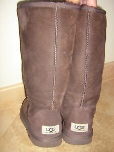 UGG Logo - UGG AUTH UGG LOGO BROWN SUEDE PLUSH SHEARLING WARM COMFY HIPPIE TALL ...