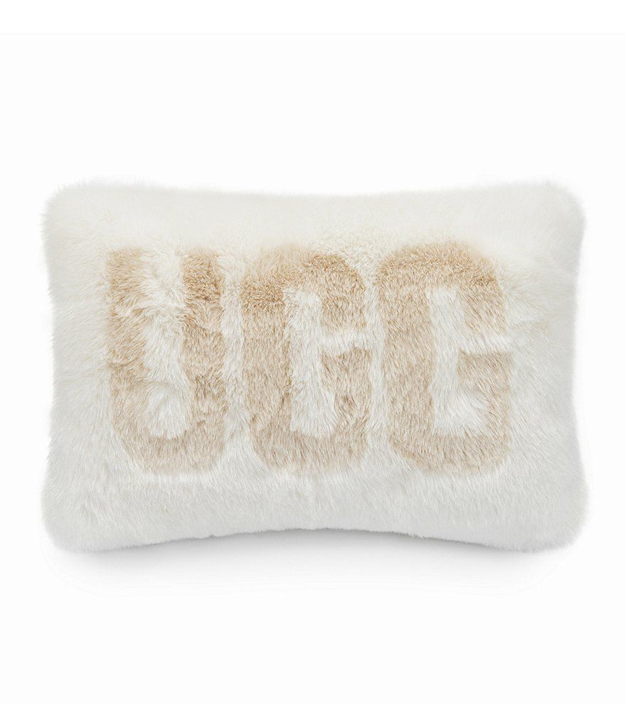 UGG Logo - UGG® Logo Royale Embossed Faux Fur Pillow | Dillard's