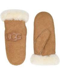 UGG Logo - Lyst - UGG Logo Mitten in Brown