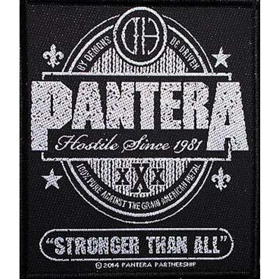 Pantera Logo - Stronger than all by Pantera, Patch with ledotakas - Ref:118969596