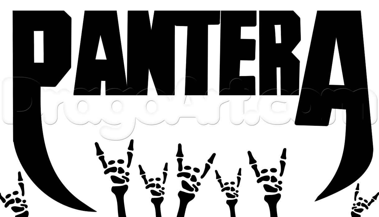 Pantera Logo - How to Draw Pantera, Step by Step, Music, Pop Culture, FREE Online ...