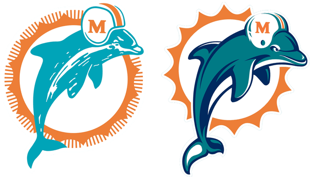 Dolphins Old Logo - Past and present Dolphins logos featured on list of NFL's best/worst ...
