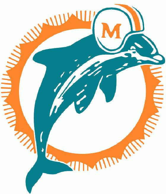 Dolphins Old Logo - Fins at 50: A dolphin takes flight