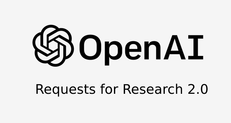 OpenAI Logo - Requests For Research 2.0: A Release by Open AI