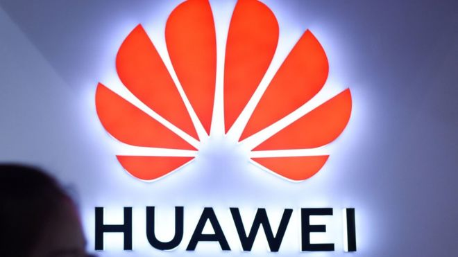 Huawei Logo - Huawei and ZTE handed 5G network ban in Australia - BBC News