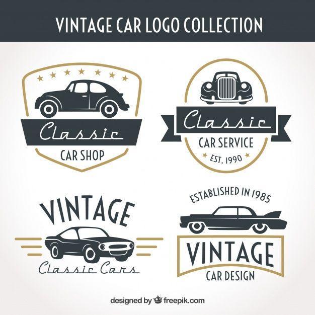 e586420b61aaa Classic Auto Shop Logo - Vintage auto logo-collectie Vector
