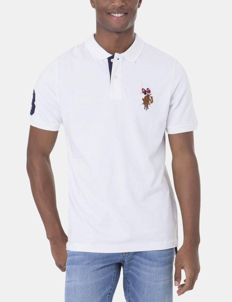 024eb7813 Polo Shirts with Logo - Multi Color Big Logo Polo Shirt - U.S. Polo Assn.