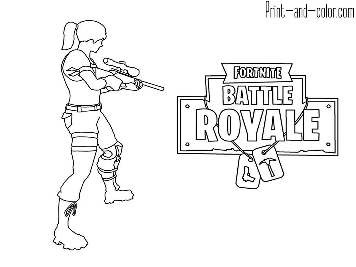 Coloring Fortnite Battle Royale Logo Logodix