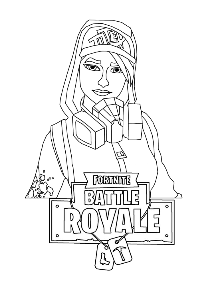 graphic regarding Fortnite Logo Printable named Coloring Fortnite Beat Royale Emblem - LogoDix