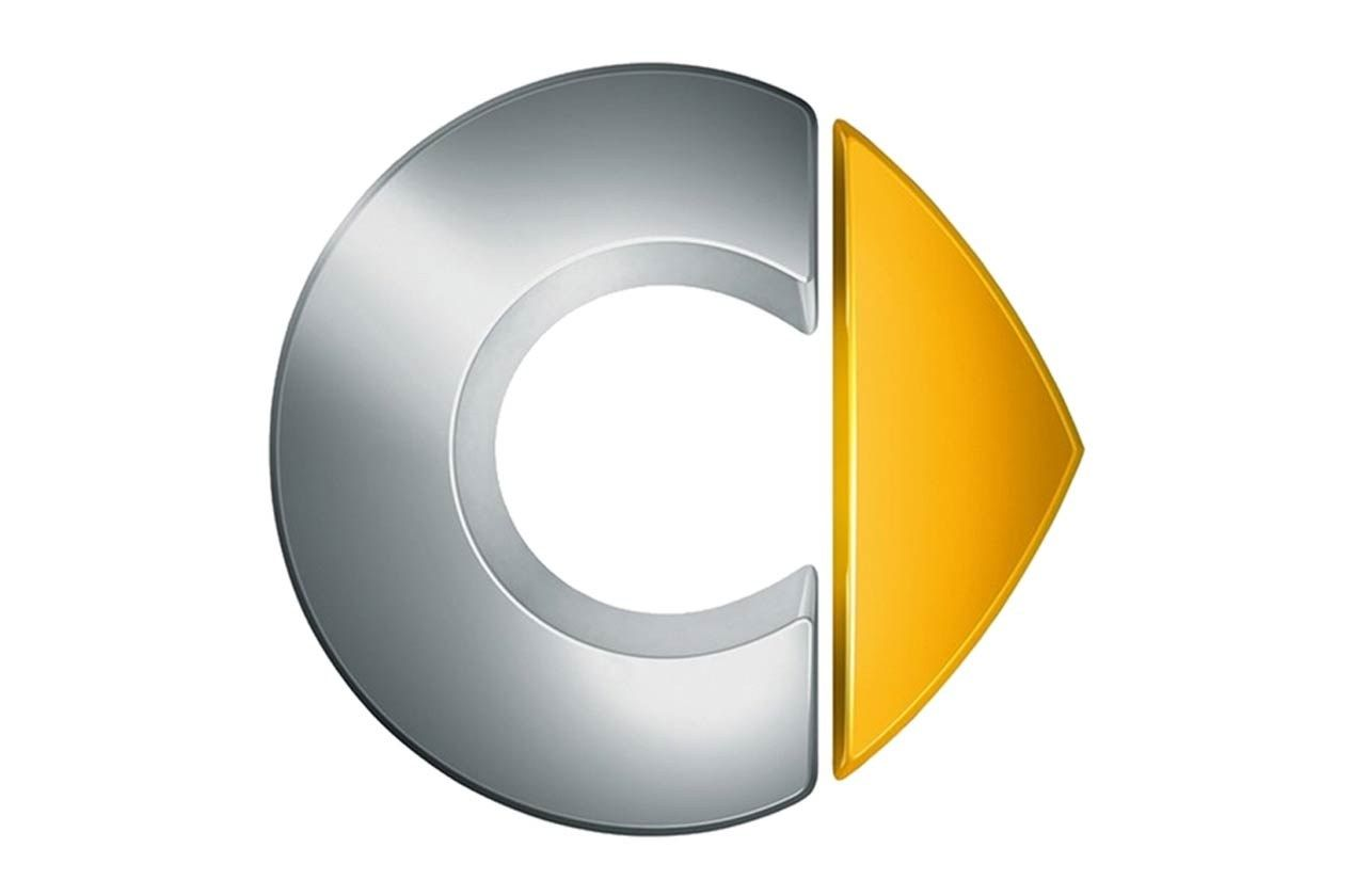 Silver C Yellow Triangle Logo - Silver And Yellow Triangle Logo C