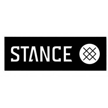 Stance Logo - Bar Logo - Black - M - Sticker - Stance Socks