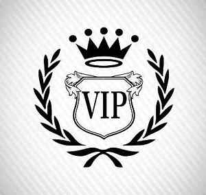 Stance Logo - VIP Royal Origin Any Make Logo car sticker dapper windshield decal ...