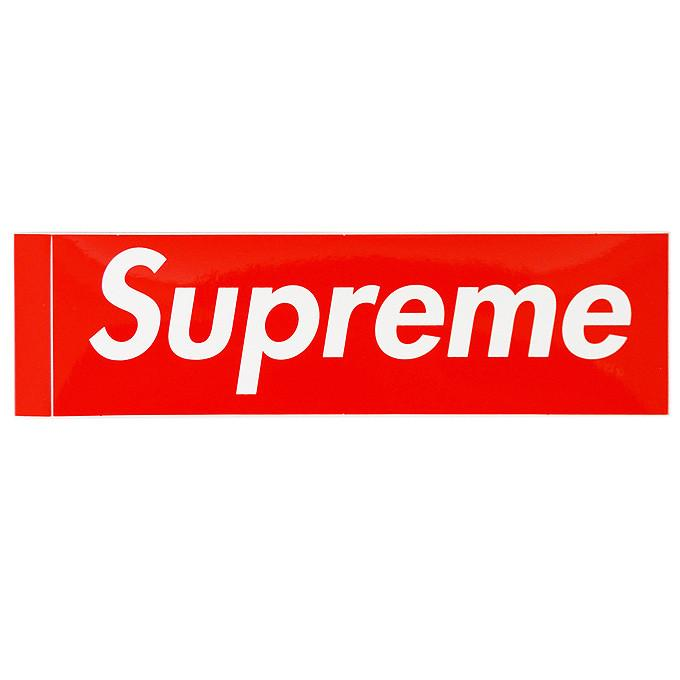Supreme Logo - SUPREME - BOX LOGO STICKER (RED) | The Magnolia Park