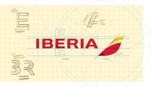 Iberia Logo - Brand New: New Logo, Identity, and Livery for Iberia by Interbrand