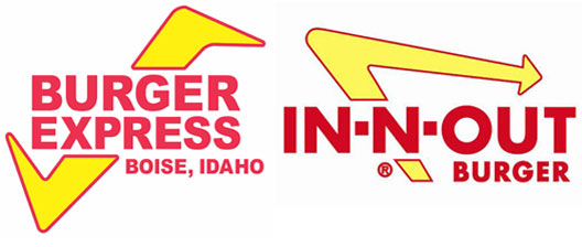 In-N-Out Burger Logo - In-N-Out Says Boise's Burger Express Is a Copycat - Eater