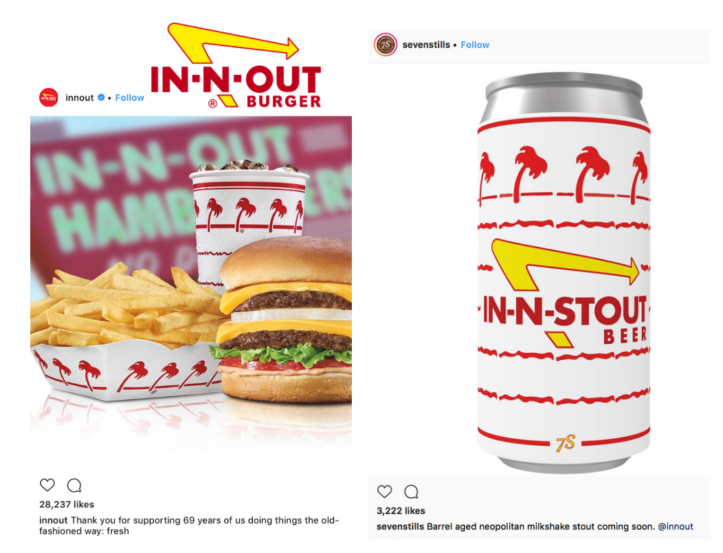 In-N-Out Burger Logo - In-N-Out Burger delivers crafty trademark letter to brewery ...