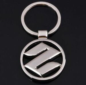 Black and Silver Car Logo - Suzuki Keyring Silver Car Logo Key Ring KeyChain | eBay