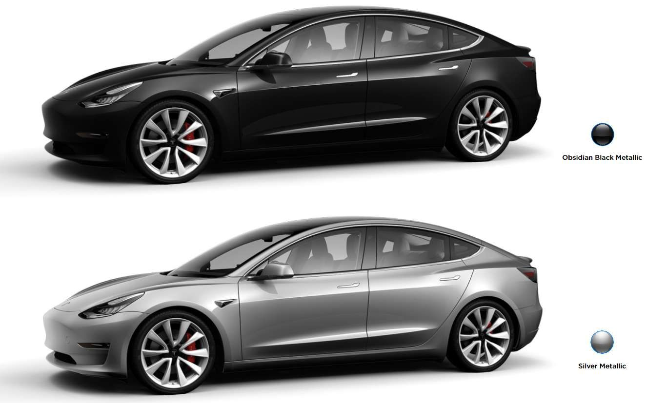 Black and Silver Car Logo - Tesla Raises Price on Select Paint Colors and Other Model 3 Optional ...