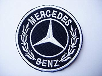 Black and Silver Car Logo - Mercedes Logo Patches - Round - Black Silver - Cars - Motorsport ...